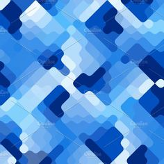 Blue Rounded Corner Rectangles by Steph J. on @creativemarket