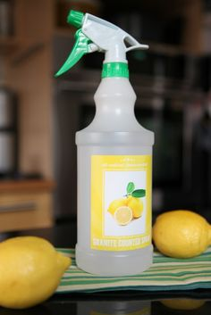 I had no idea that regular counter cleaner can damage granite! This all-natural recipe for granite cleaner is non-toxic and safe for disinfecting counters.