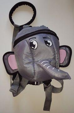 Toddler Child Grey Elephant Animal Daysack Backpack & Safety Reins | eBay