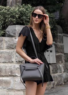Street style fashion / Celine micro belt bag #celinebag #fashion #womensfashion #streetstyle #ootd #style / Pinterest: @fromluxewithlove