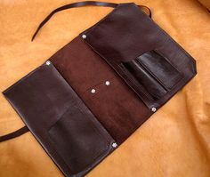 Leather Pipe & Tobacco Pouch in Chocolate by SorringowlandSons