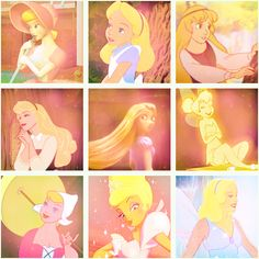 disney blonds - I'm pinning this only because they included Eilonwy, who is ALWAYS left out.