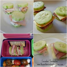 Eggface Protein Packed and Portable Snacks and Lunches - Cucumber Sandwiches