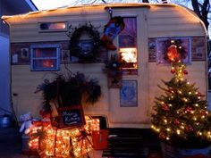 I want to own a vintage camper and yes spend the Holiday in it!  Love love