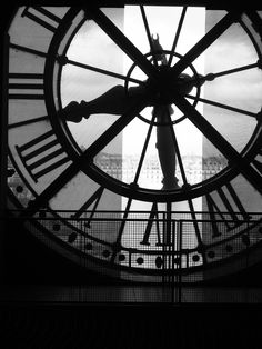 black & white  old clock pictures | Musee d'Orsay Clock Paris Black and White 6 x 4 by DanBullockPhoto