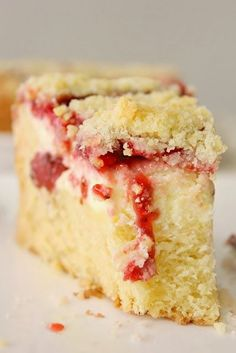 Strawberry Cream Cheese Coffee Cake - This coffee cake is just so perfect paired with a nice cup of hot coffee or tea