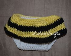 Bumble Bee Skirt Diaper Cover free pattern!