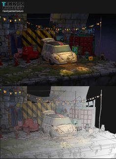 TekkonKinkreet_Parking Garage(2013), B bM on ArtStation at https://www.artstation.com/artwork/ePaeP