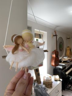 Nursery hanging decor, fairy, felt fairy, fairy tailored, custom made fairy, baby girl, girls room Felt Fairy, Baby Fairy, Mother Daughter Quotes, Fairy Birthday, Magical Forest, Project Nursery, Nursery Design, Felt Ornaments, Fairies