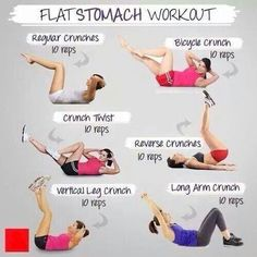 Flat stomache workout
