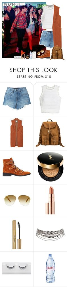 """""""""""POWERFUL"""" (Louis & Eleanor)"""" by miriamofficial5 ❤ liked on Polyvore featuring Alexander Wang, Rebecca Taylor, MANGO, Yves Saint Laurent, Givenchy, Victoria Beckham, Estée Lauder, Napoleon Perdis, Pieces and Evian"""