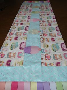 Cupcakes in the Kitchen Table Runner - pinned by pin4etsy.com