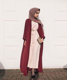Red open abaya - check out: Esma <3