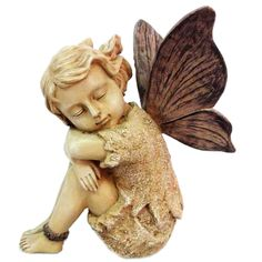 Features:  -Finish: Sandstone.  -Composition: Polyresin.  -Indoor and outdoor use.  Product Type: -Statue.  Color: -Sandstone.  Style: -Vintage.  Material: -Resin/Plastic.  Theme: -Fairy. Dimensions: