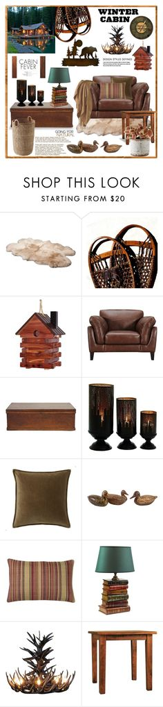 """""""Winter Cabin"""" by terry-tlc ❤ liked on Polyvore featuring interior, interiors, interior design, home, home decor, interior decorating, UGG Australia, ADAM, DutchCrafters and GET LOST"""