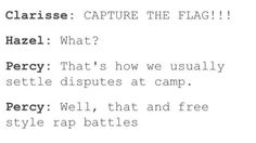 Capture the flag and freestyle rap battles