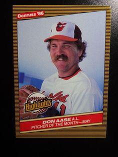 1986 Donruss Highlights #12 Don Aase Baltimore Orioles Baseball Card #BaltimoreOrioles