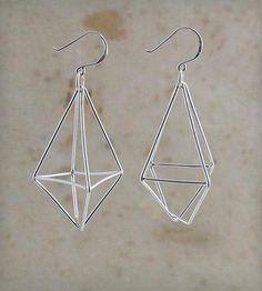 Diamond Wire Sterling Silver Earrings | Jewelry Earrings | Elaine B Jewelry | Scoutmob Shoppe | Product Detail