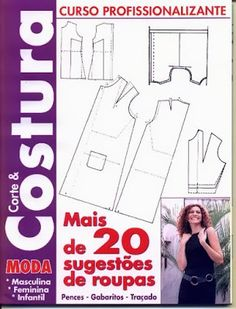 """Moldes Moda por Medida: LIVRO - 8 """"CORTE & COSTURA""""                                                                                                                                                      Mais"""