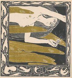 Ver Sacrum-1901. Illustration by Klimt - Lilo