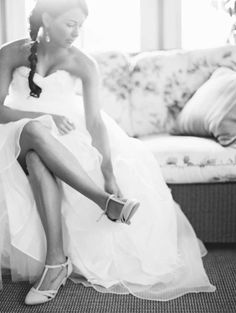 #bride getting ready, #film | Allison Kuhn Photography on The Lovely Find