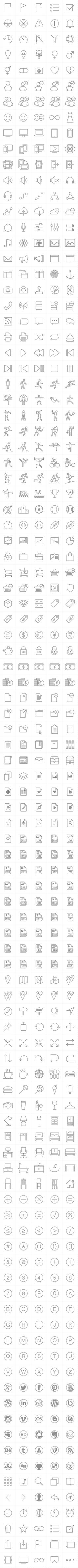 PixelLove | iOS 7 vector tab bar icons for iPhone & iPad apps