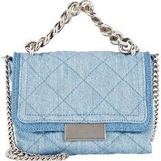 Stella McCartney Women's Becket Small Shoulder Bag (5.316.675 IDR) ❤ liked on Polyvore featuring bags, handbags, shoulder bags, bolsas, purses, blue, chain strap purse, blue shoulder bag, blue handbags and handbag purse