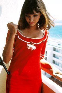 Anna Karina, love this dress!