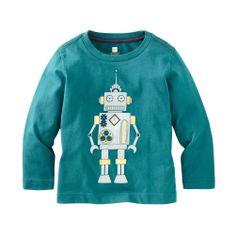Little Boy Long Sleeve Graphic Knit Shirt | Tea Collection