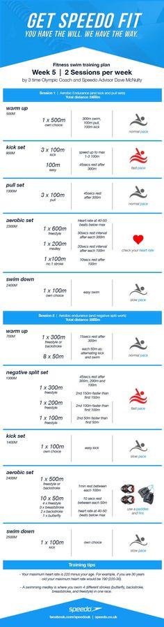 Dave McNulty Swim Fitness Training Plan - Week 5 | Speedo