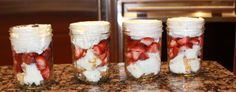 Strawberry Shortcake in Marson Jars -- great for parties or for picnics