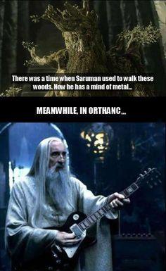 Heavy metal Saruman. OMIGOD! XD