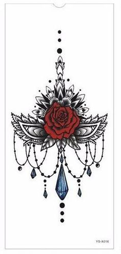 Buy from us Tattoo Sticker new Chest large flower skull rose. Get a discount for the entire collection Tattoo Stickers . Body Art Tattoos, New Tattoos, Sleeve Tattoos, Sternum Tattoos, Tattoo Forearm, Tattos, Phoenix Tattoos, Tribal Back Tattoos, Tribal Shoulder Tattoos