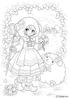 Takase Mio / Coloring Pages