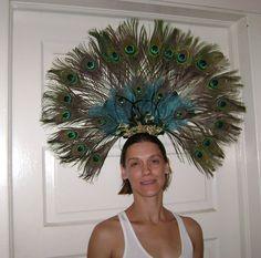 Peacock headdress