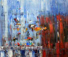 """Friedhard Meyer, """"Landungssteg"""" (45) Mit einem Klick auf 'Als Kunstkarte versenden' versenden Sie kostenlos dieses Werk Ihren Freunden und Bekannten."""
