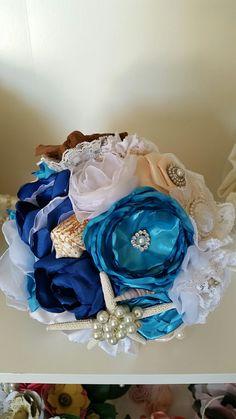 Bouquet marino gioiello nelle tonalità del colore ottanio