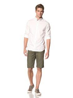 78% OFF 8.15 August Fifteenth Men\'s Grand Original Fit Long Sleeve Shirt (White)
