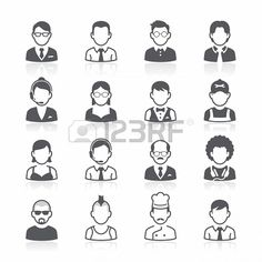 Business people avatar icons. #illustration