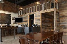 reclaimed barnwood siding - Fat Dragon Chinese Kitchen and Bar. Richmond, VA.