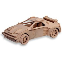 3-D Wooden Puzzle - Small Car Model F-20 -Affordable Gift for your Little One! Item #DCHI-WPZ-P065A