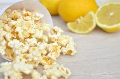 The best lemon popcorn recipe. This popcorn is amazing. The perfect balance of sweet, salty and citrus in one treat.