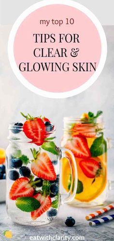 Acne is a sign from our bodies that something isn't functioning optimally internally. Without further ado, my top 10 clear skin tips! Foods For Clear Skin, Clear Skin Detox, Food For Glowing Skin, Clear Skin Face, Clear Skin Tips, Oily Skin Care, Skin Care Tips, Dry Skin, Skin Tightening Mask