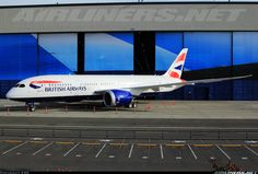 British Airways Boeing 787-8 Dreamliner G- BJD  on display at Paine Field for visitors  on Boeing Family Day.