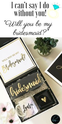 Will you be my bridesmaid? The perfect bridesmaid gift and bridesmaid proposal idea! #willyoubemybridesmaid #bridesquad #bridesmaidproposal #bridesmaid