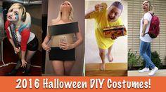 2016 DIY HALLOWEEN COSTUMES TUTORIAL| Harley Quinn, Kim Kardashian, Elev...