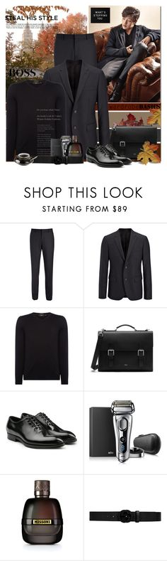 """Untitled #2075"" by elena-777s ❤ liked on Polyvore featuring Neul, Joseph, HUGO, Mulberry, Dolce&Gabbana, Braun, Missoni, Gucci, men's fashion and menswear"