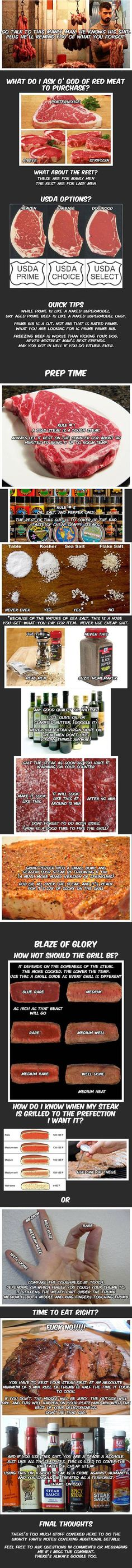 Every Warm Blooded, Whiskey Loving Male Should Know How To Properly Cook A Steak - Caveman Circus