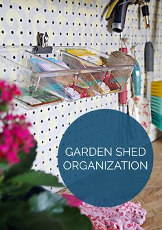 What a colorful way to organize garden tools!