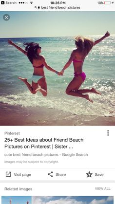Pin by alexa rachau on cute beach pictures. Cute Beach Pictures, Beach Photos, Bffs, Selfies, Beach Picture Outfits, Dance Photos, What's Trending, Pictures Images, Videos